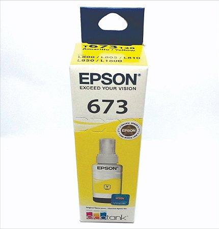 Refil de Tinta Epson T673 Amarelo 70ml - T673420-AL