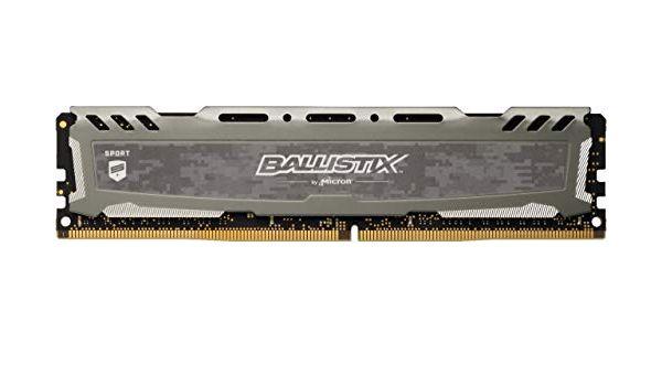 MEMORIA DESKTOP BALLISTIX SPORT 4GB - DDR4 2400MHZ - CL16 - PC4-19200 - UDIMM - CINZA - MICRON