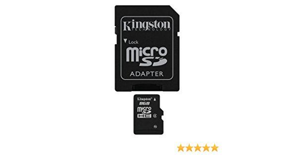 CARTAO DE MEMORIA CLASSE 4 KINGSTON SDC4/8GB MICRO SD 8GB COM ADAPTADOR SD (CST 260)