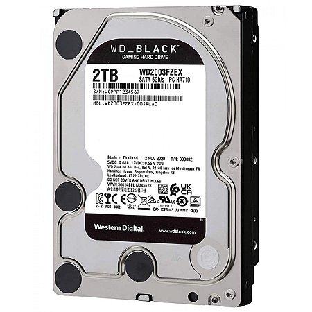 HD 2TB (2000GB) Caviar Black SataIII 6Gbs 64MB Cache 7200RPM - Western Digital