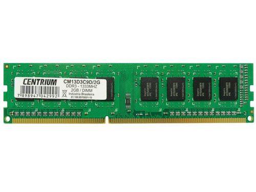 MEMORIA NACIONAL DESKTOP CENTRIUM CM13D3C9D/2G 2GB DDR3 1333MHZ CL9 240-PIN UDIMM (CST 260)