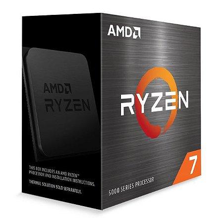 PROCESSADOR AMD RYZEN R7 5800X 38GHz MAX TURBO 47GHz DDR4 AM4 36MB CACHE