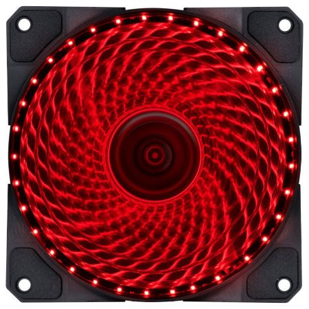 FAN/COOLER VX GAMING V.LUMI 33 PONTOS DE LED 120X120 VERMELHO - VLUMI33R