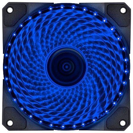FAN/COOLER VX GAMING V.LUMI 33 PONTOS DE LED 120X120 AZUL - VLUMI33B