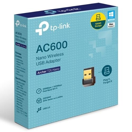 ADAPTADOR USB S/FIO AC600 ARCHER T2U NANO
