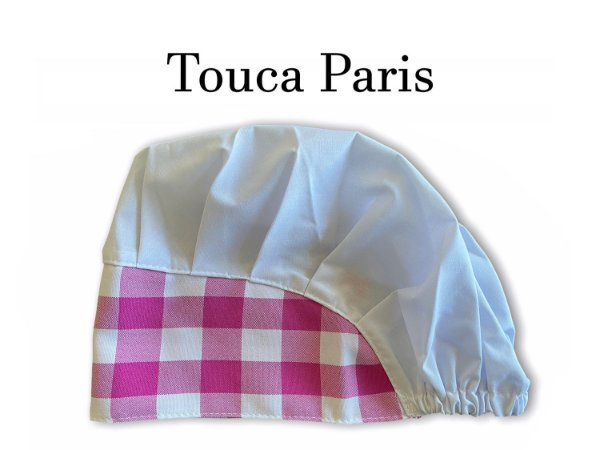 Touca Paris - Axa Xadrez Pink - Uniblu
