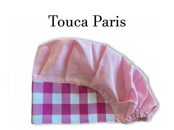 Touca Paris - Xadrez Pink - Ultimas peças - Troca de Coleção - Uniblu