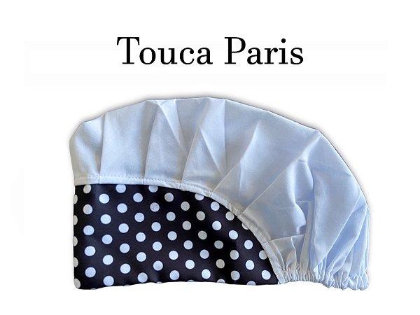 Touca Paris - Poá Preto com Branco e Cabeça Branca  - Uniblu