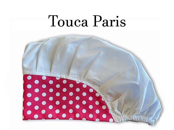 Touca Paris - Poá Pink com Branco e Cabeça Branca  - Uniblu