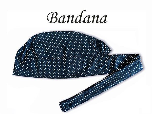 Bandana - Touca Preta Poá Branco P - ( unisex ) -  Uniblu
