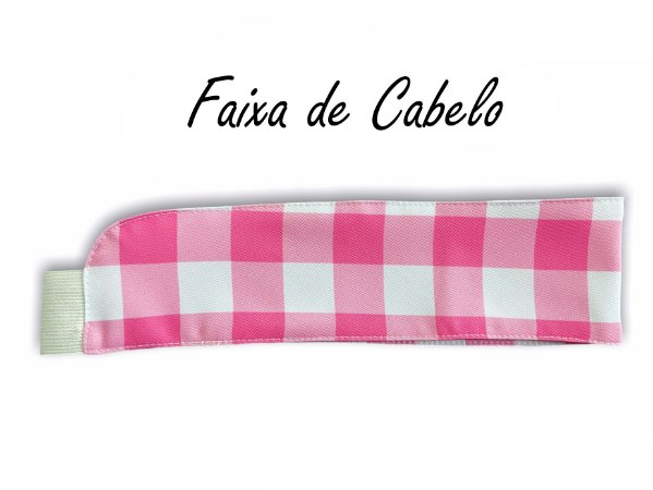 Faixa de Cabelo Xadrez Pink Lancaster - Uniblu