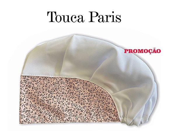 PROMOÇÃO: Touca Paris - Aba Nude com Floral Marrom - Uniblu