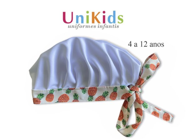 Touca Unikids - Abacaxi - Uniblu