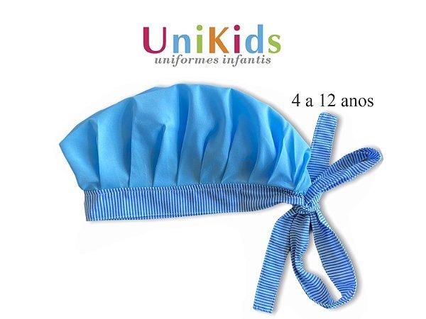 Touca Unikids - Azul com Detalhes listras azul - Uniblu