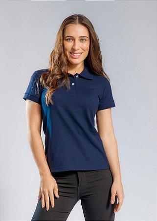 Camisa Polo Feminina Cor- Azul Marinho - Uniblu