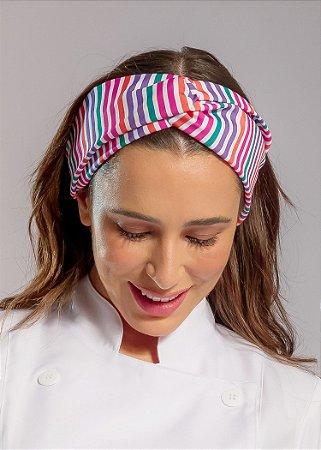 Turbante Gabardine Listras Coloridas - Uniblu