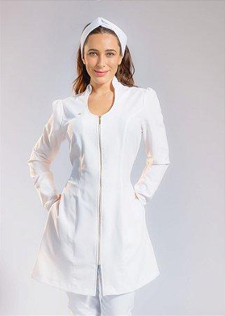 Jaleco Feminino Condessa Branco - Slim - Uniblu