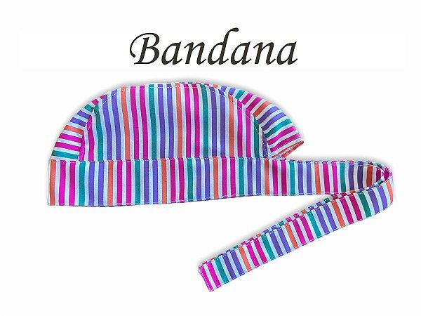 Bandana - Touca Pirata Listras Coloridas - ( unisex ) -  Uniblu