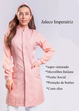 Jaleco Feminino Imperatriz Slim - Nude - Uniblu