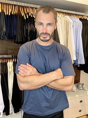Camiseta Malha 100% algodão Cor Cinza Extra - Uniblu