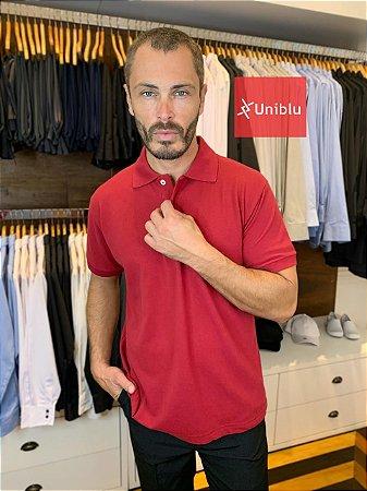 Camisa Polo Masculina Tomate - Uniblu