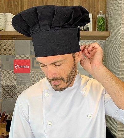Touca Chefe - Preta ( unisex ) uniblu