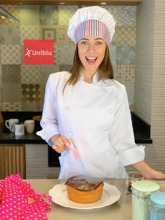 Camisa Feminina Chefe Cozinha - Dolman Stilus Branca - Botões Brancos - Uniblu