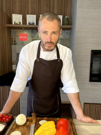 Avental Gourmet - Microfibra Italiana Marrom Café - Uniblu