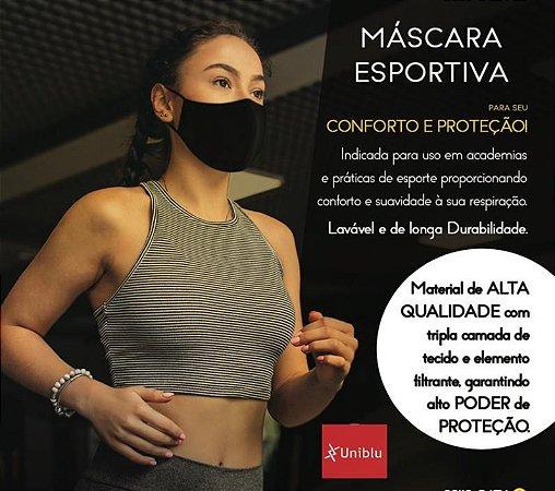 Máscara Esportiva - Tripla Camada - Uniblu