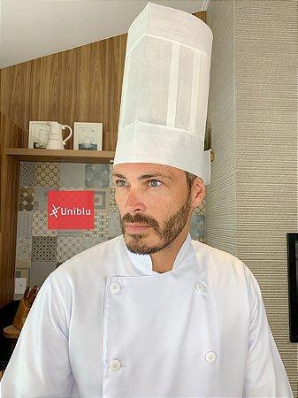 Touca Toque Blanch - Chapéu Cozinheiro Uniblu