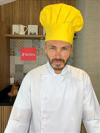 Touca Chefe ou Chapéu Chefe - Amarelo ( unisex ) uniblu