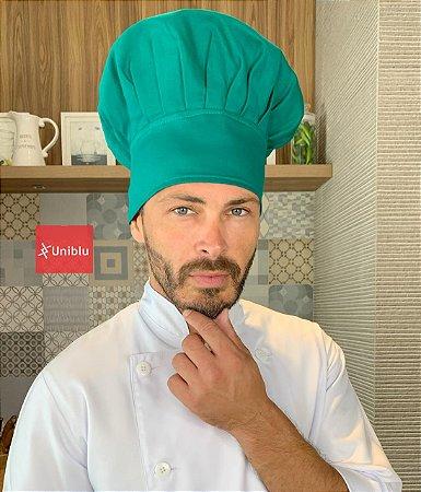 Touca Chefe ou Chapéu Chefe - Verde ( unisex ) uniblu