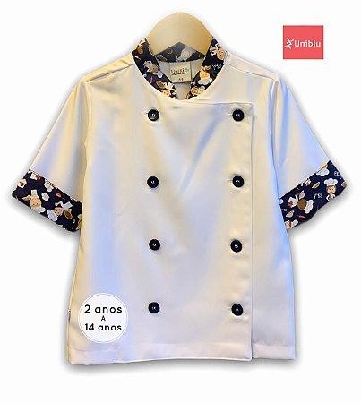 Camisa Chefe Infantil - Dolman Infantil - Estampa Chefinho - Unikids