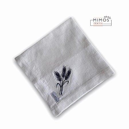 Guardanapo de Mesa - Linho Branco com Bordado - Mimos Têxtil