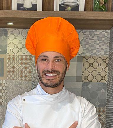 Touca Chefe - Laranja ( unisex ) uniblu