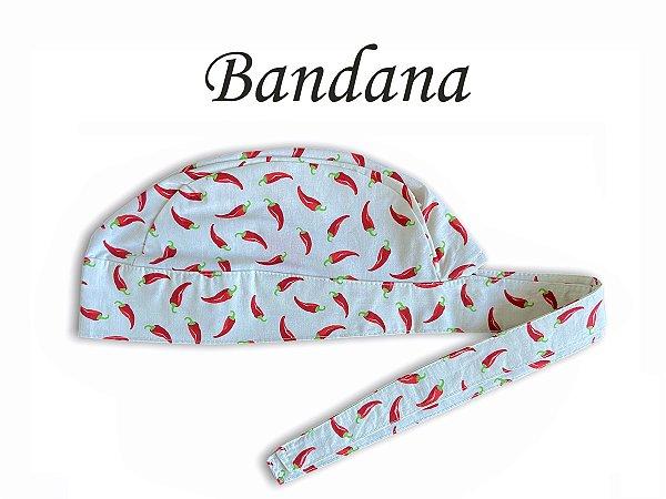 Bandana - Touca Pirata Bege com Pimentas - ( unisex ) -  Uniblu