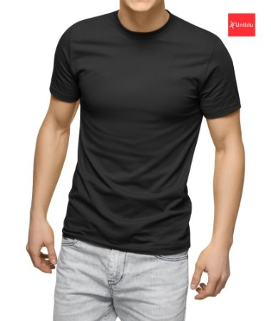 Camiseta Malha 100% algodão Cor Preta - Uniblu