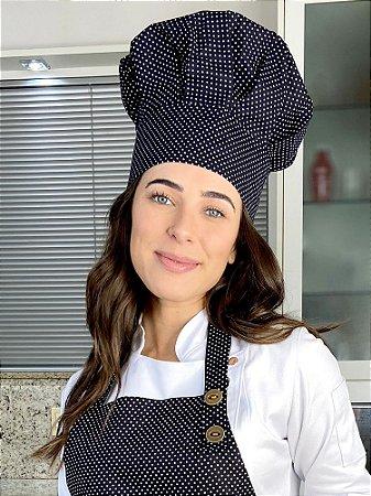 Touca Chefe ou Chapéu Chefe - Poá Preto Uniblu
