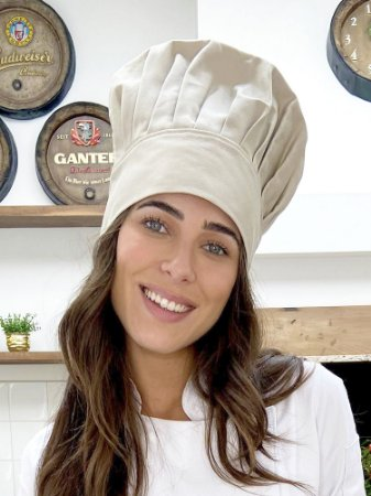 Touca Chefe - Cor Areia - uniblu