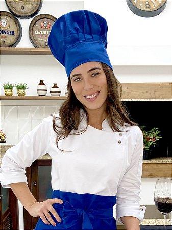 Touca Chefe - Cor Azul Royal - uniblu