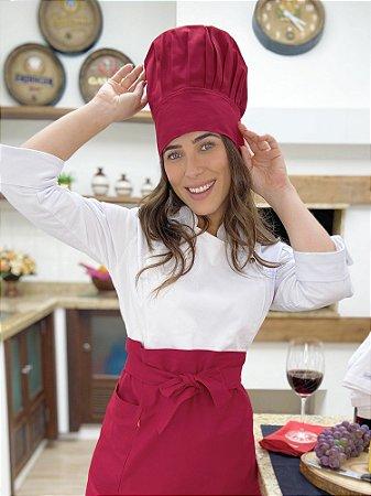Touca Chefe -Bordô - uniblu