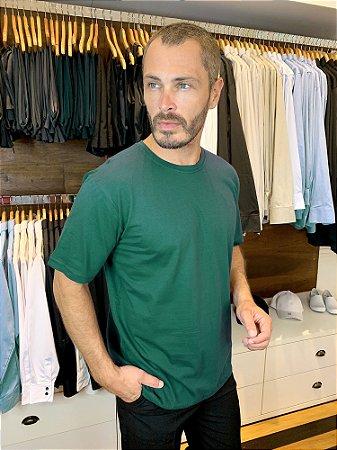 Camiseta Malha 100% algodão Cor Verde Bandeira - Uniblu