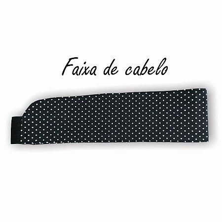 Faixa de Cabelo - Poá Preto nº1 - Uniblu