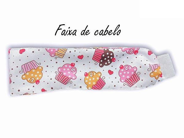 Faixa de Cabelo - Cupcakes - Uniblu