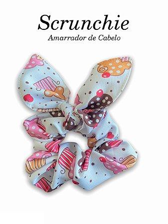 Scrunchie  - Amarrador de cabelo Cupcakes
