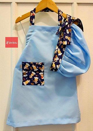 Conjunto - Avental + Gorro Infantil Unikids - Chefinho Azul - Uniblu