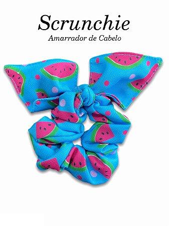 Scrunchie - Amarrador de cabelo Melancias Azul