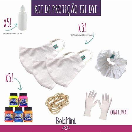 Kit Tie Dye | 3 Máscaras + Scrunchie