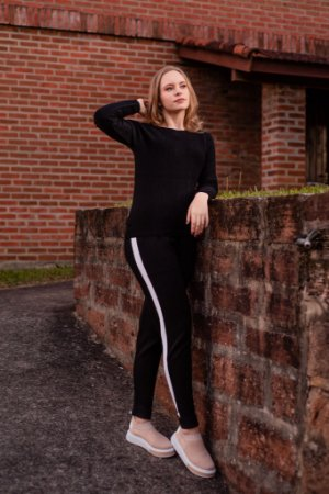 Conjunto calça Jogger/Blusa em modal