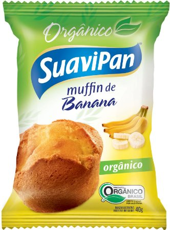 Muffin de Banana Orgânico SuaviPan Display c/ 12 Unid